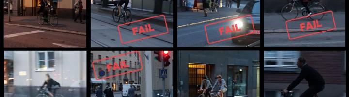 Kuinka paljon pyöräilijät oikeasti rikkovat liikennesääntöjä?